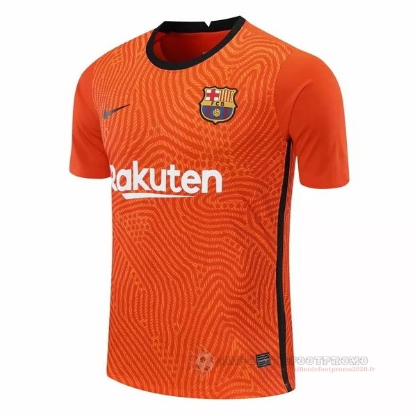 Maillot De Foot Pas Chere Camiseta Portero Barcelone 2020 2021 Orange