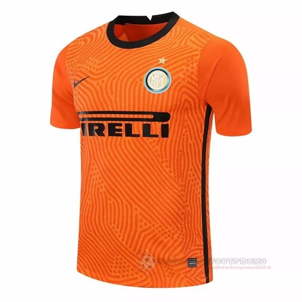 Maillot De Foot Pas Chere Portero Camiseta Inter Milán 2020 2021 Orange