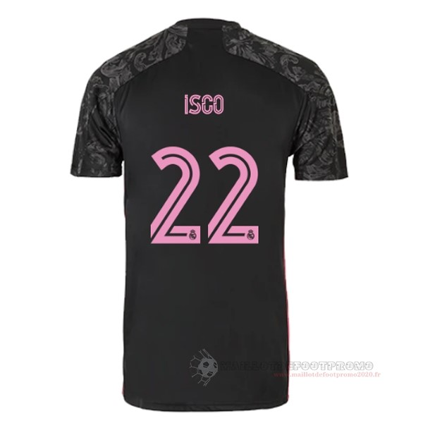 Maillot De Foot Pas Chere NO.22 Isco Third Maillot Real Madrid 2020 2021 Noir