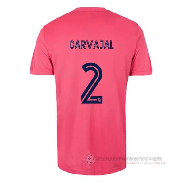 Maillot De Foot Pas Chere NO.2 Carvajal Exterieur Maillot Real Madrid 2020 2021 Rose