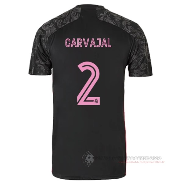 Maillot De Foot Pas Chere NO.2 Carvajal Third Maillot Real Madrid 2020 2021 Noir
