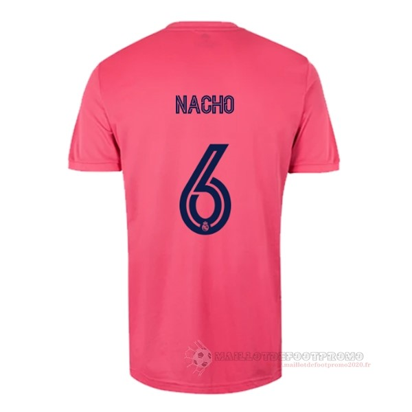 Maillot De Foot Pas Chere NO.6 Nacho Exterieur Maillot Real Madrid 2020 2021 Rose