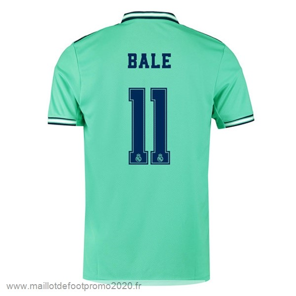 Maillot De Foot Pas Chere NO.11 Bale Third Maillot Real Madrid 2019 2020 Vert