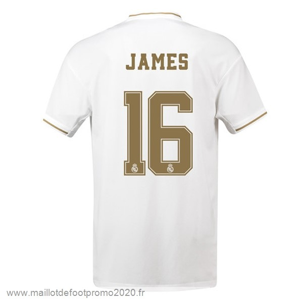 Maillot De Foot Pas Chere NO.16 James Domicile Maillot Real Madrid 2019 2020 Blanc