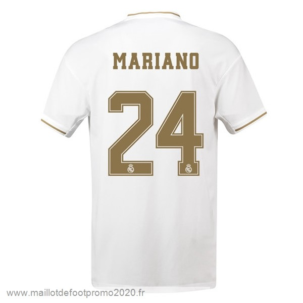 Maillot De Foot Pas Chere NO.24 Mariano Domicile Maillot Real Madrid 2019 2020 Blanc